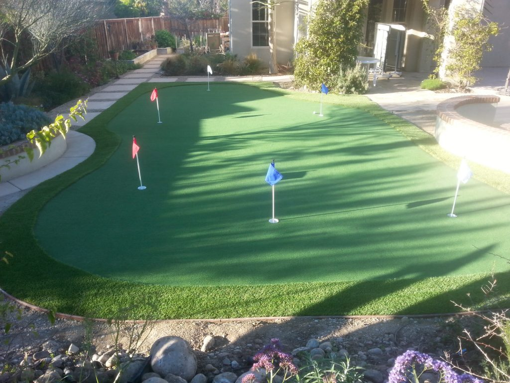 Synthetic Turf Putting Greens For Backyards Lakeside, Best Artificial Lawn Golf Green Prices