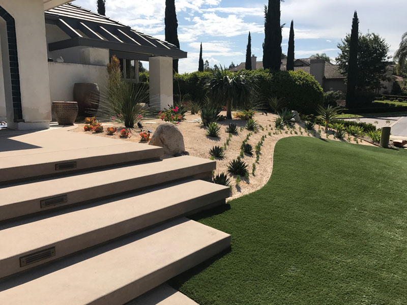 Synthetic Turf Installation Contractor Projects Lakeside, New Residential or Business Project Artificial Landscape Installation